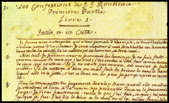 Rousseau manuscrit